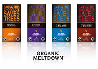 New flavours and new look for tree-saving chocolate Organic Meltdown