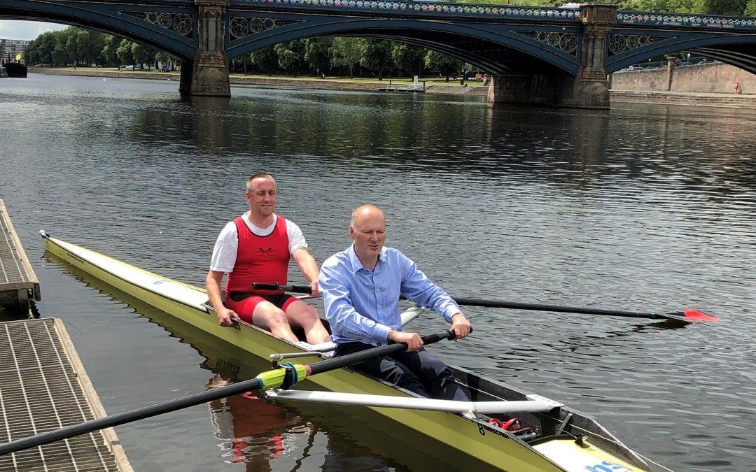 BSP Consulting makes a splash in its 20th anniversary year and sponsors boat used by promising young rowers