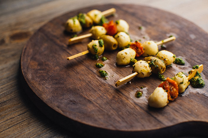 Mediterranean buffet skewers from Central Foods on the menu this Summer
