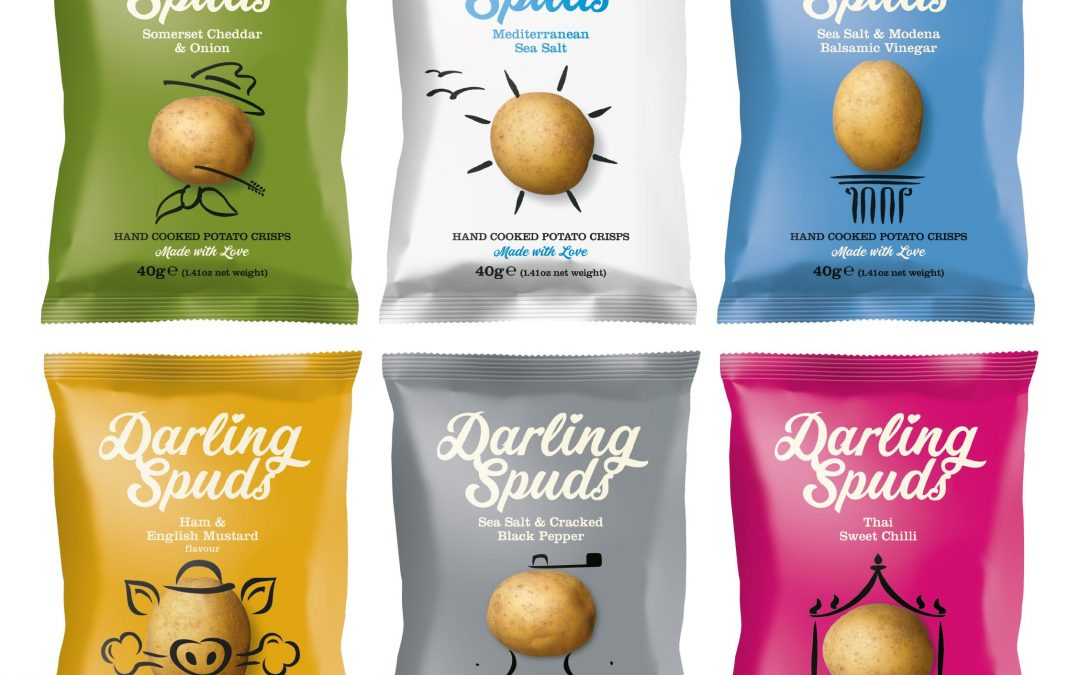 New flavours and packaging unveiled by snack brand Darling Spuds